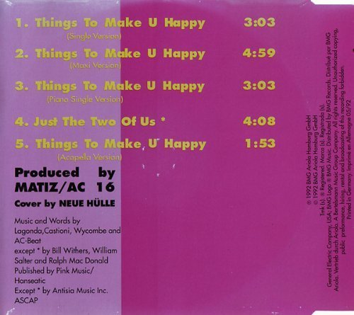 Bild 3: Oliver Cheatham, Things to make u happy (1992)