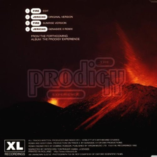Bild 2: Prodigy, Fire/Jericho (2 versions each, 1992)