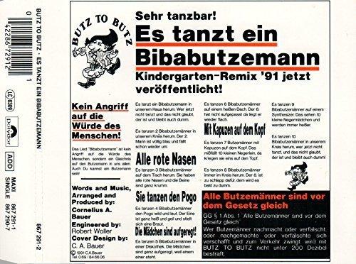Bild 1: Butz to Butz, Es tanzt ein Bibabutzemann (1991)