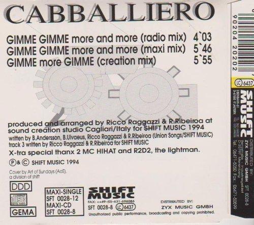 Bild 2: Cabballiero, Gimme gimme more and more (#zyx/sft0028)