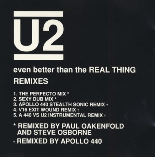 Bild 1: U2, Even better than the real thing (Remixes, US)