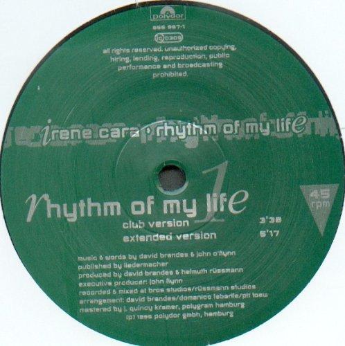 Bild 1: Irene Cara, Rhythm of my life (Club/Ext./Radio Edit/Instr., 1995)