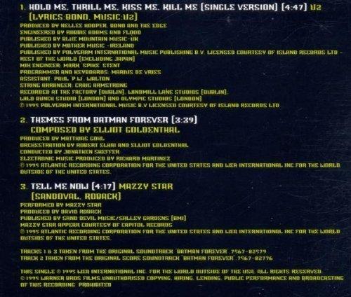 Bild 2: U2, Hold me, thrill me, kiss me, kill me (1995)