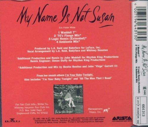Bild 2: Whitney Houston, My name is not Susan (1991)