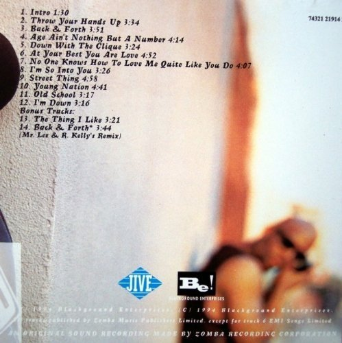Bild 4: Aaliyah, Age ain't nothing but a number (1994; 14 tracks)