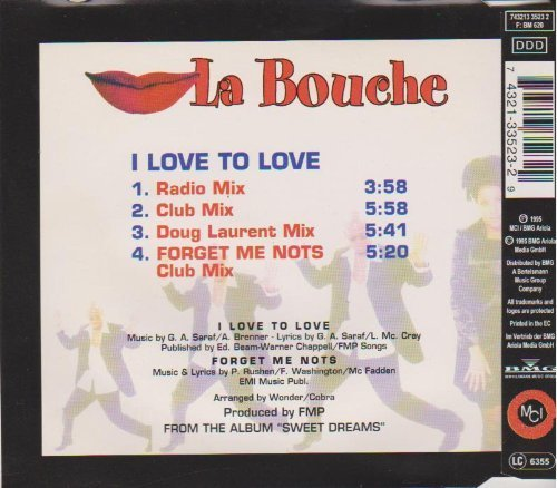 Bild 2: La Bouche, I love to love (1995)