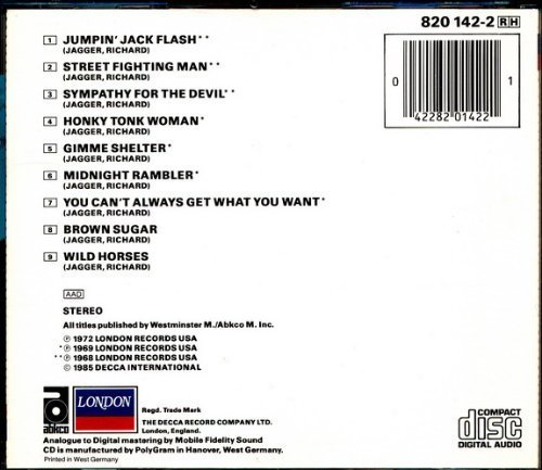 Bild 2: Rolling Stones, Hot rocks 2 (9 tracks, 1968-72)
