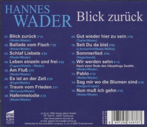 Bild 2: Hannes Wader, Blick zurück-Das beste aus den 80er Jahren