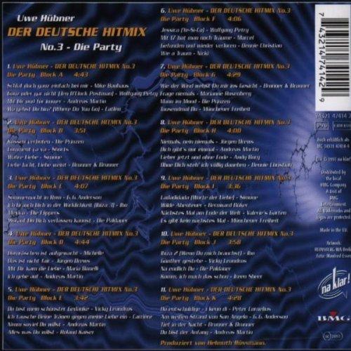 Bild 2: Der Deutsche Hit Mix (1997, Uwe Hübner), 3:Münchener Freiheit, Vicky Leandros, Roland Kaiser, Nicki, Marianne Rosenberg..
