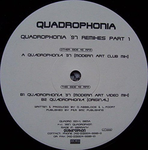 Bild 1: Quadrophonia, Quadrophonia-'97 Remixes Part 1 (Modern Art Club/Video Mixes/Orig.)