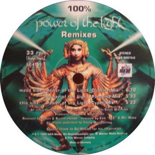 Bild 1: 100%, Power of the light-Remixes (1994)