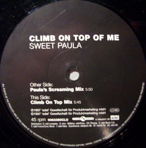 Bild 1: Sweet Paula, Climb on top of me (Paula's Screaming, 1997)