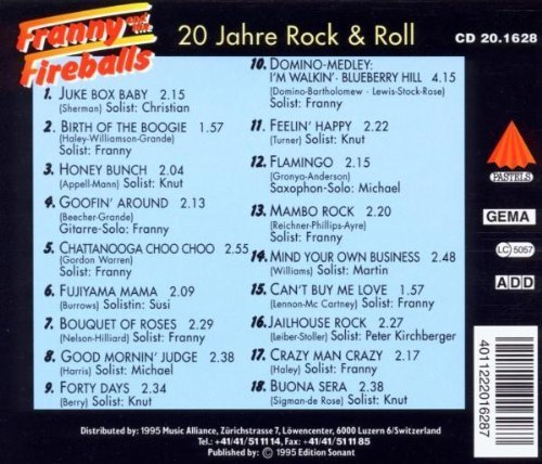 Bild 2: Franny & The Fireballs, 20 Jahre Rock & Roll-Feelin' happy (1995)