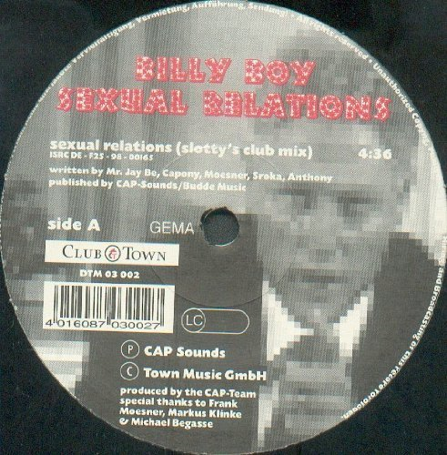 Bild 1: Billy Boy, Sexual relations (Slotty's Club Mix)