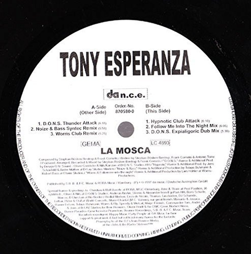 Bild 1: Tony Esperanza, La mosca (6 versions, 1997)