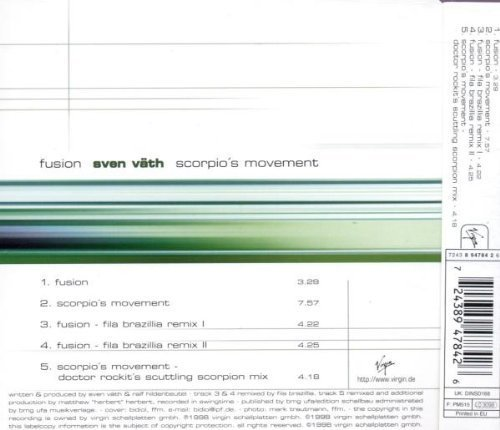 Bild 2: Sven Väth, Fusion/Scorpio's movement (5 tracks, 1998)