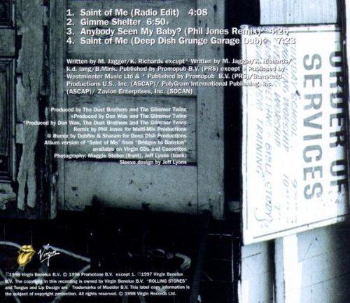 Bild 2: Rolling Stones, Saint of me (1998, CD1)