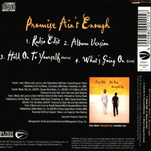 Bild 2: Daryl Hall & John Oates, Promise ain't enough (1997)