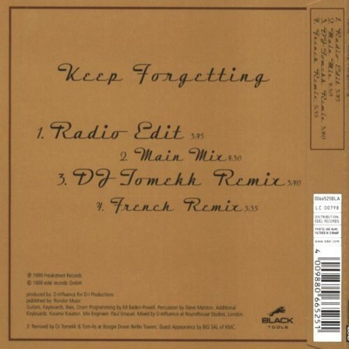 Bild 2: Yana, Keep forgetting (1999)