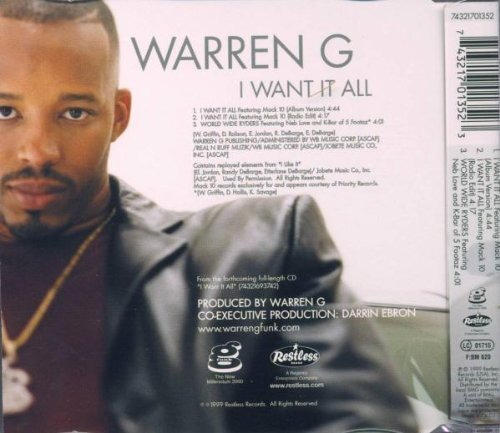 Bild 2: Warren G, I want it all (1999, feat. Mack 10)