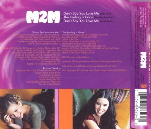 Bild 2: M2M, Don't say you love me (1999)