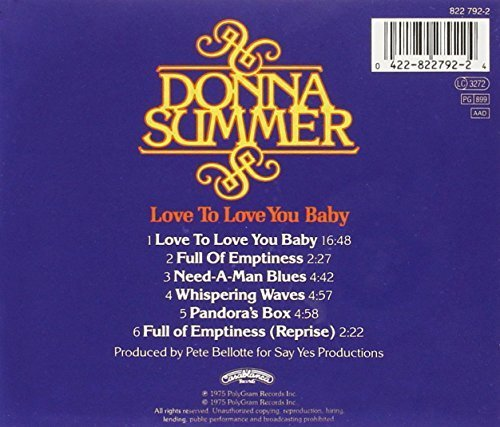 Bild 2: Donna Summer, Love to love you baby (1975)