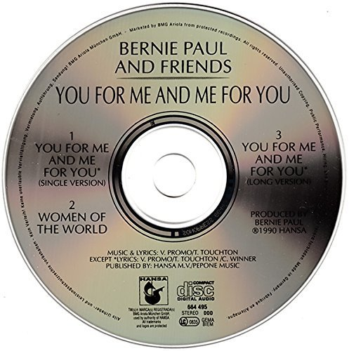 Bild 2: Bernie Paul, You for me and me for you-RTL Wimbledon Titelsong (1990, & Friends)
