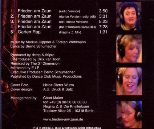 Bild 2: Regina Z.(indler) & Knallerbsen, Frieden am Zaun (2000)