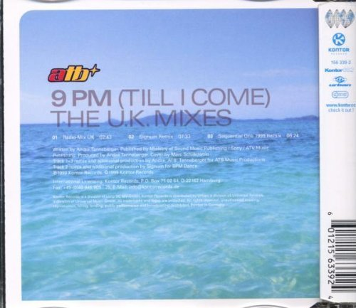 Bild 2: ATB, 9 pm (The UK Mixes, 1999)