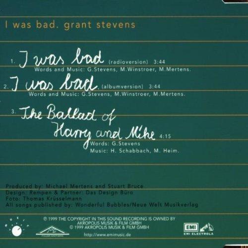 Bild 2: Grant Stevens, I was bad (1999)