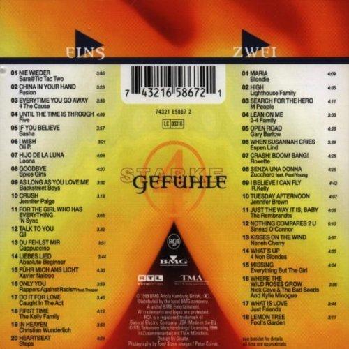 Bild 2: Starke Gefühle 4 (1999), Sara & Tic Tac Two, Sasha, Oli P., Loona, Gil, Xavier Naidoo, Blondie, Roxette..