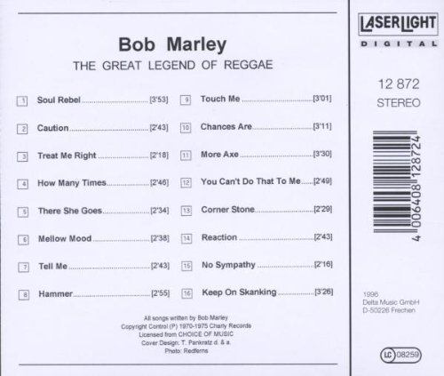 Bild 2: Bob Marley, Great legend of reggae (compilation, #laserlight12872)