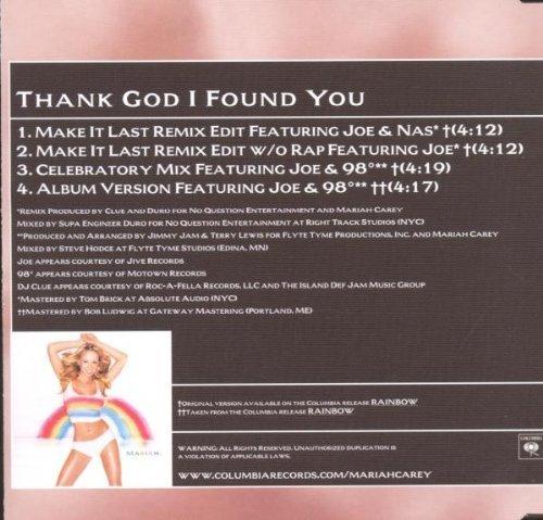 Bild 2: Mariah Carey, Thank god I found you (2000, #6688542, & Nas, Joe)