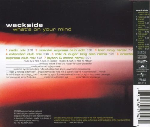 Bild 2: Wackside, What's on your mind (2000; 7 versions)