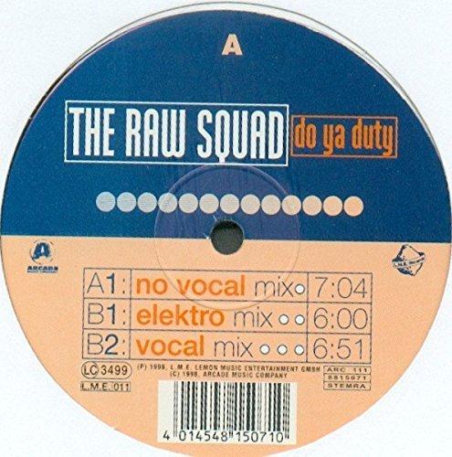 Bild 1: Raw Squad, Do ya duty (3 versions, 1998)