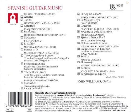 Bild 2: John Williams, Spanish guitar music (Sony, 1974/76/90)