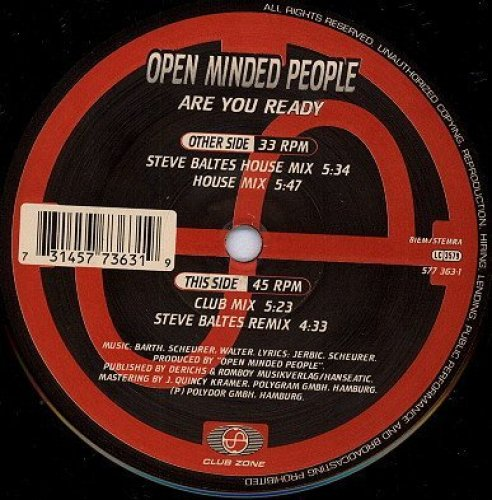 Bild 1: Open Minded People, Are you ready (1995)