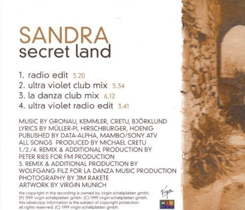 Bild 2: Sandra, Secret land (1999)