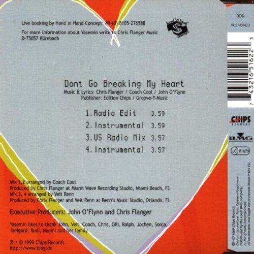 Bild 2: Yasemin, Don't go breaking my heart (1999)