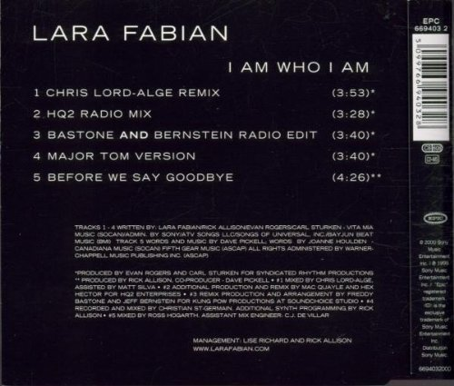 Bild 2: Lara Fabian, I am who I am (2000)