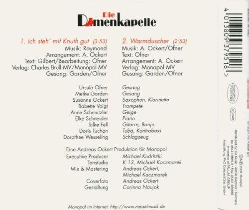 Bild 2: Damenkapelle, Ich steh' mit Knuth gut/Warmduscher (2000)
