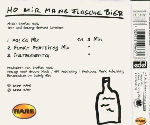Bild 2: Stefan Raab, Ho mir ma ne Flasche Bier (2000, feat. DJ Bundeskanzler)