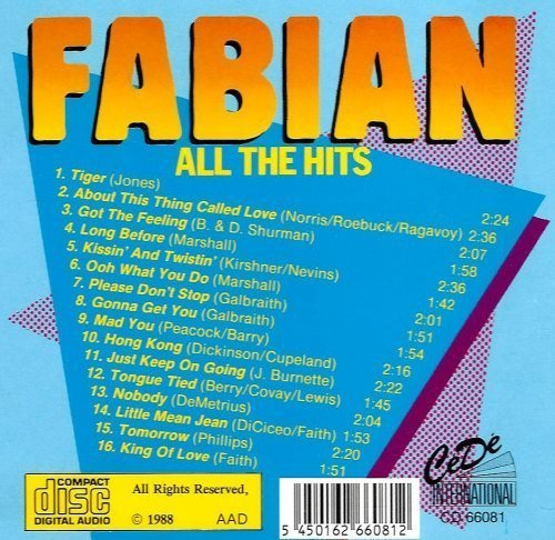 Bild 2: Fabian, All the hits (16 tracks)