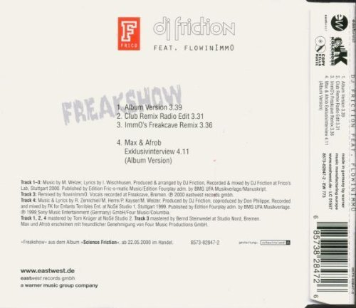 Bild 2: DJ Friction, Freakshow (2000, feat. Flowinimmo)