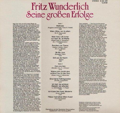 Bild 2: Fritz Wunderlich, Seine großen Erfolge (AMIGA)