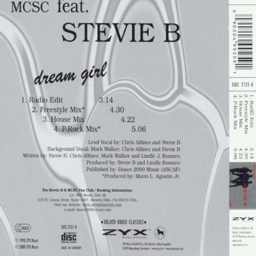 Image 2: Stevie B., Dream girl (golden dance classics, feat. by MCSC)