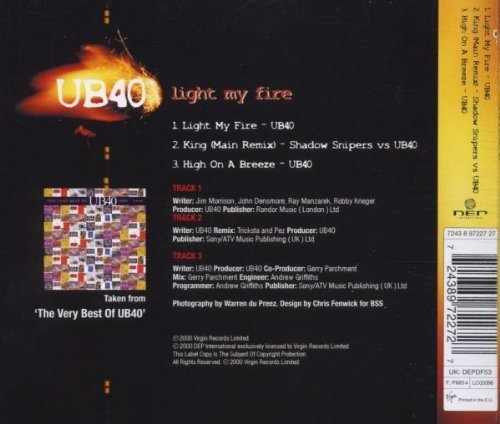 Bild 2: UB 40, Light my fire (2000)