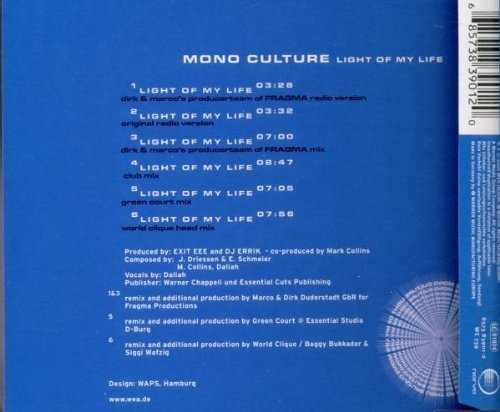 Bild 2: Mono Culture, Light of my life (2000)