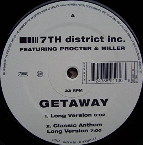 Bild 1: 7th District Inc., Getaway (4 versions, feat. Procter & Miller)