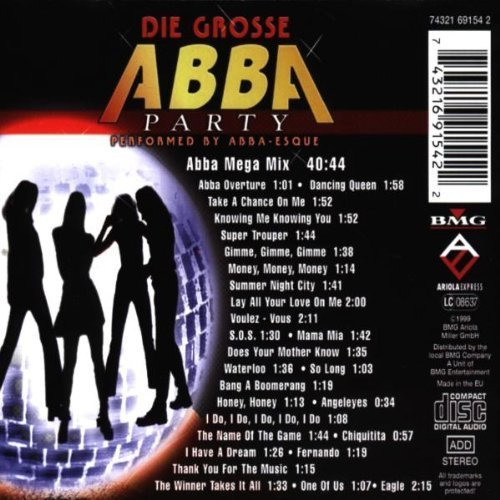 Bild 2: Abba, Die grosse Abba party (performed by Abba-esque)